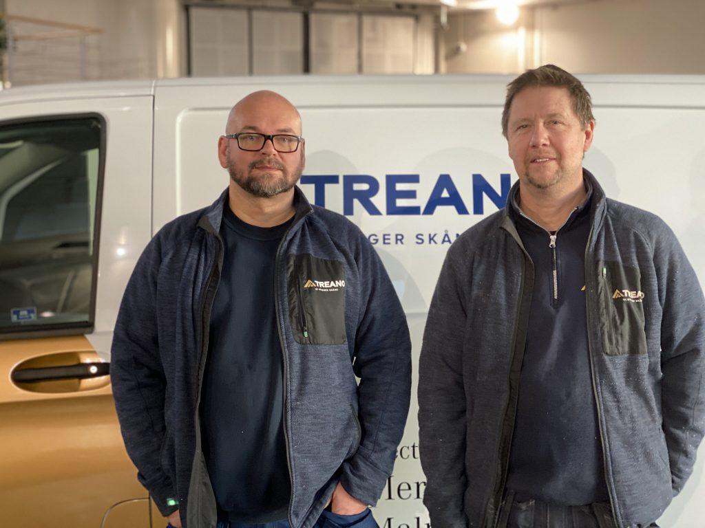 Eldrivna servicebilar på prov Treano Bygg